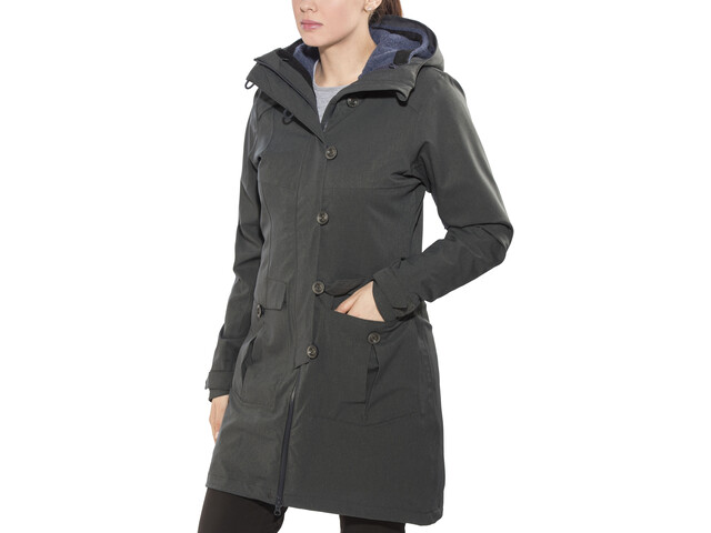 Bergans Bjerke 3in1 Abrigo Mujer, outer:solid charcoal/inner:night blue
